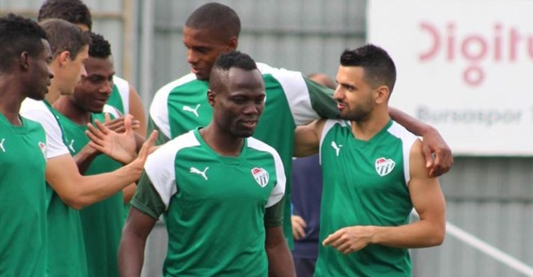 Emmanuel Agyemang-Badu travelled with Bursaspor on ferry
