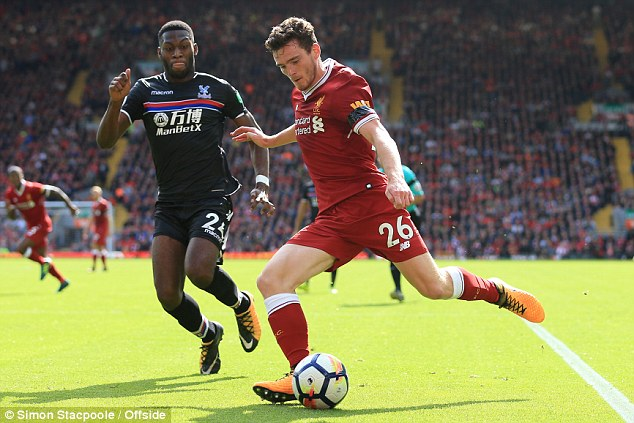 Fosu-Mensah in action for Palace against Liverpool