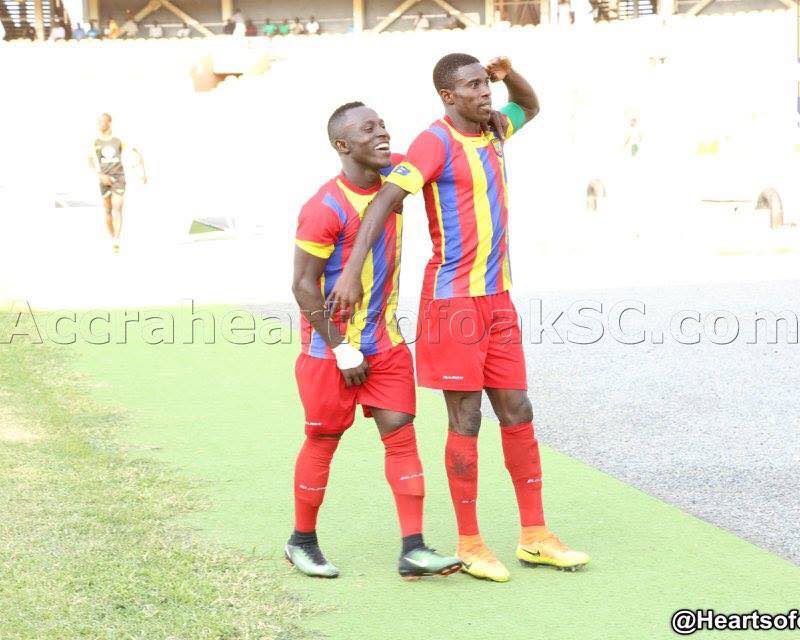 Hearts of Oak duo Abbey and Razak pictured, have become a target or many clubs including Cape Town City FC