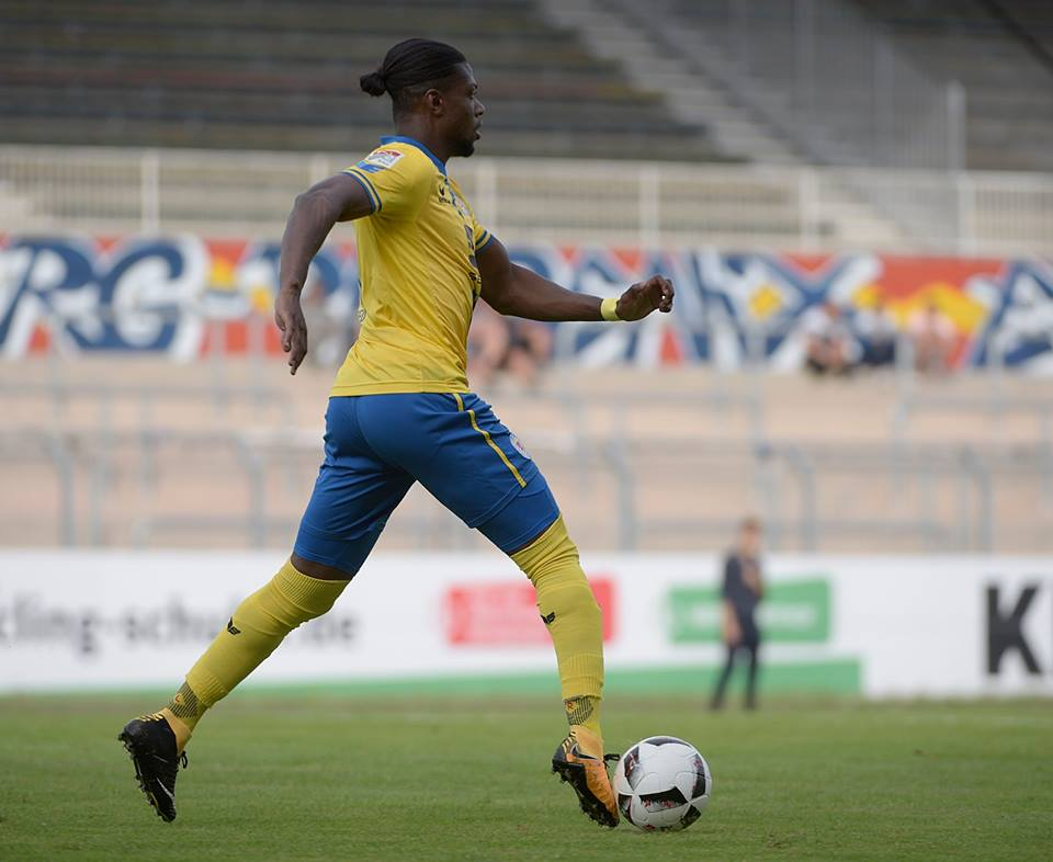 Joe Baffo was sent off while in action for Braunschweig