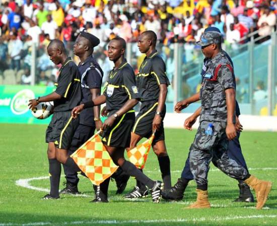 Performance of Ghanaian referee has come under the microscope