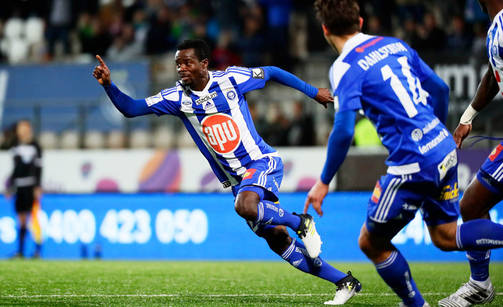 Anthony Annan scored for HJK Helsinki