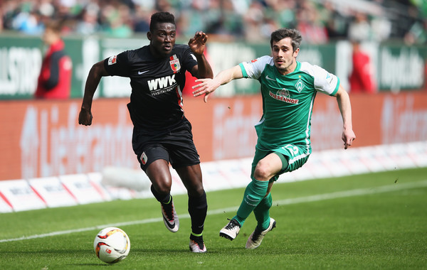 Daniel Opare returned to action for Augsburg