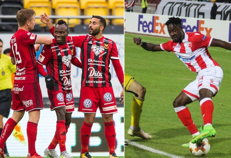Ghanaian players in action in the Europa League