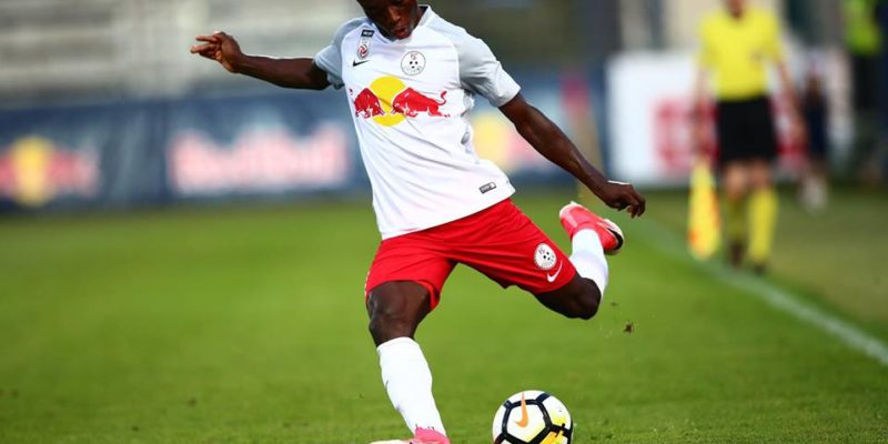 Gideon Mensah in action for Red Bull Salzburg