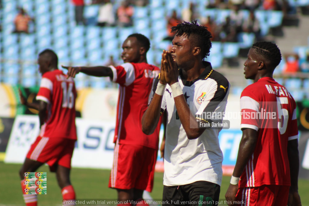Kwame Kizito of Hearts of Oak rues after missing a chance