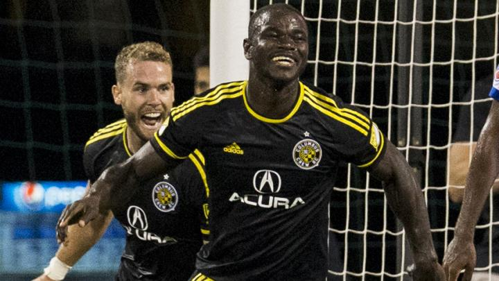 Jonathan Mensah scored for Crew on Saturday