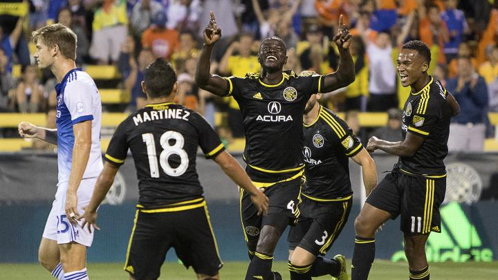 Jonathan Mensah scored for Crew