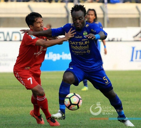 Michael Essien was in action for Persib in Indonesia