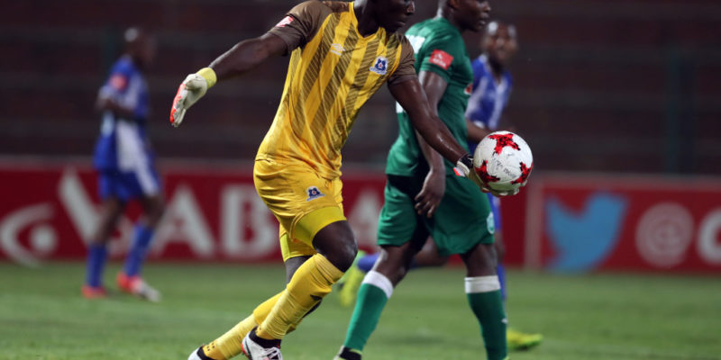 Richard Ofori Goalkeeper of Maritzburg Utd during the Absa Premiership 2017/18 game between AmaZulu and Maritzburg United at King Zwelithini Stadium, Durban on 12 September 2017 © Steve Haag/BackpagePix