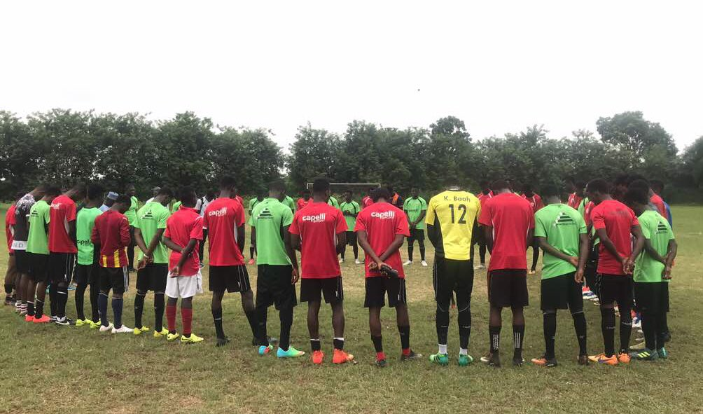 Inter Allies observe minute silence in memory of deceased striker Prince Appiah