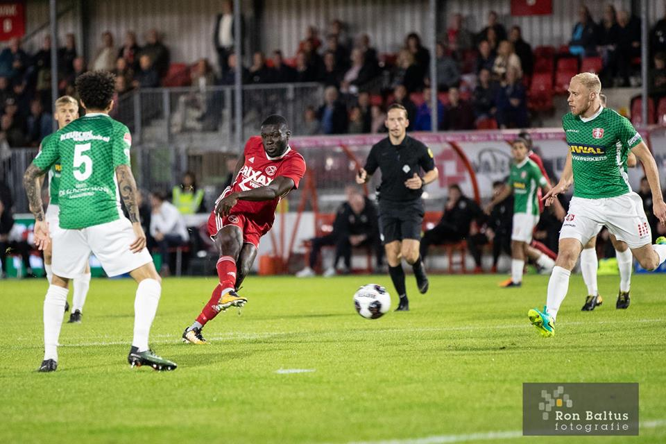 Ghanaian attacker Kevin Luckassen on target for Almere in Dutch Cup