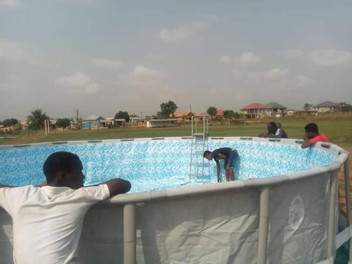 Accra Hearts of Oak have fixed modern movable swimming pool at their training grounds in Pobiman