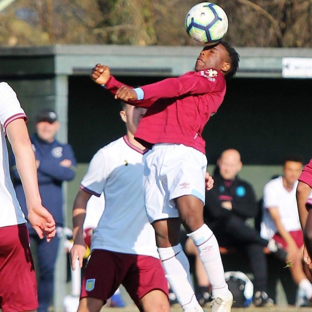 Keenan Appiah-Forson is action for West Ham United during a Premier League 2 game