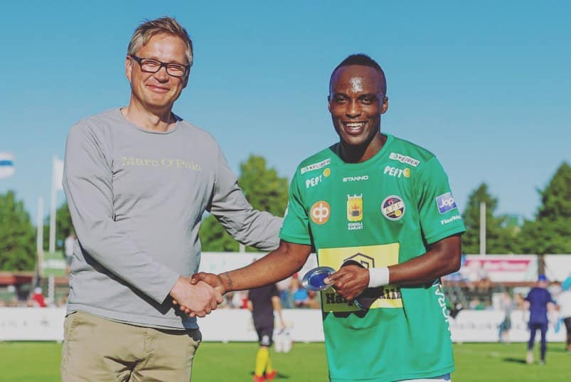 Ishmael Yartey was voted the Best Player on his debut in the Finnish top-flight league