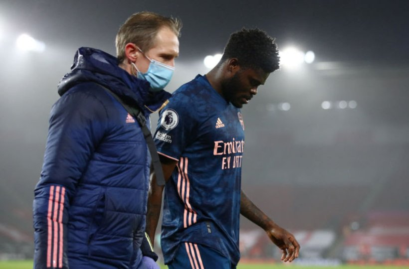 Thomas Partey suffers another knock in Arsenal's League defeat at Aston Villa